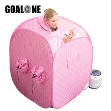 купить GOALONE 2.2L Portable Sauna Steamer 1000W 220V Home Spa Steam Bathtub Negative Ion Detox Full Body Slimming Pool Loss Weight Tub по цене 6141.22 рублей