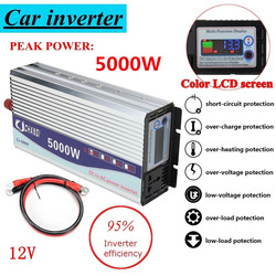 Solar Inverter 12V/24V/48V 220V 5000W 10000W Peaks Modified Sine Wave Power Voltage transformer Inverter Converter + LCD display