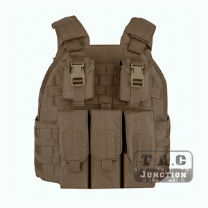 Image 3 - Emerson Tactical Compact Vest SPC Style High Speed Plate Carrier Adjustable Vest w/ Triple For M4 M16 Magazine Mag Pouch