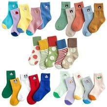 kids winter socks 5 pairs toddler animal Cartoon plain rainbow short warm sock child baby boy girl cotton school teenager
