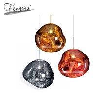 Nordic LED Pendant Lamp Lava Glass Lights Lighting for Living Room Loft Indoor Decor Hanging Kitchen Light Fixtures
