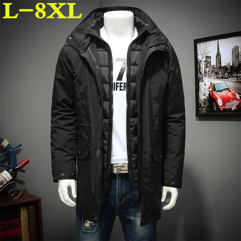 Plus Size 8XL 7XL 6XL Winter Jacket Men The Liner Is Removable Thick Coat Thermal Warm Windproof Hood Jackets Mens Outwear Parka