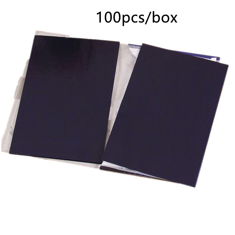 100 Pcs Blue Carbon Paper  A5 32K Double Sided Copy Transfer Office Supplies Thin Type School Graphite Stationery Reusable