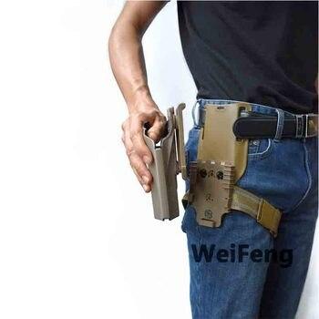 Tactical Drop Leg Band Strap QLS 19 22 Gun Holster Adapter for Safa Glock 17 Beretta M9 Hunting Pistol Waist Belt Platform 3