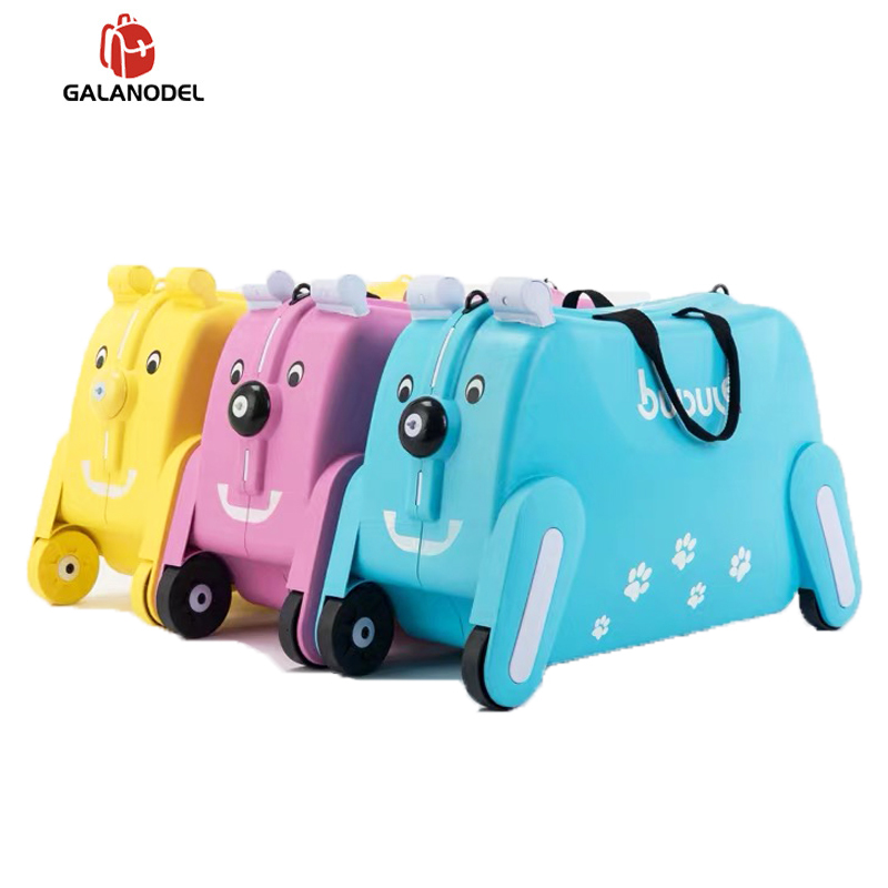 Ride-on Suitcase On Wheels For Kids Carry On Child Rolling Luggage Suitcases Riding Trolley Bag Travel Luggage Can Sit To Ride