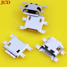 JCD Micro usb jack Micro USB Connector 4 Feet SMT For Power Charging Phone Tail USB jack 2.0 Female Mini USB Socket 5 Pin M026(China)