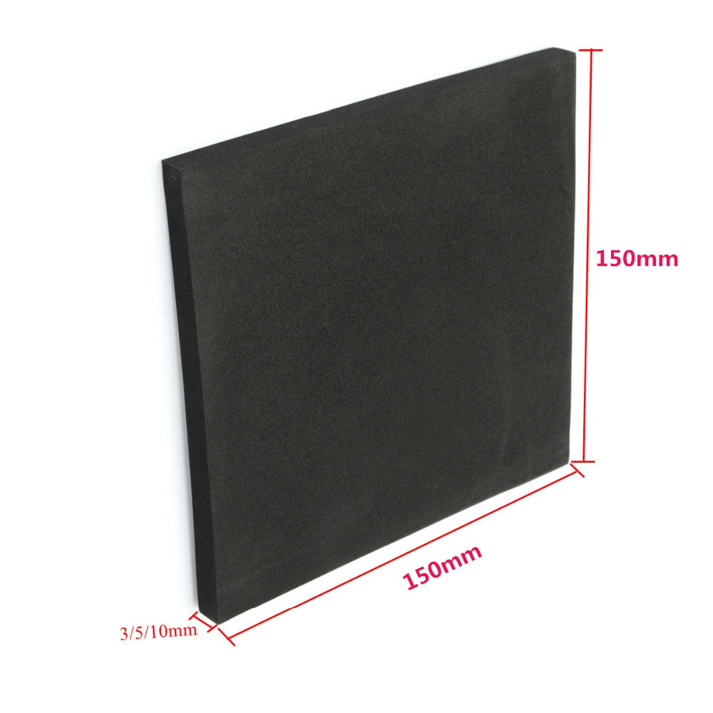150x150mm Sound-Absorbing Noise Sponge Foam 3mm 5mm 10mm ESD Anti Static Pin Insertion High Density Foam Soundproofing Foam