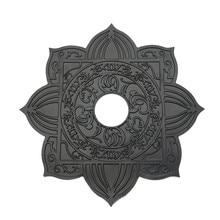 Black Metal 4.5cm Large Hole Hookah Trays For Shisha