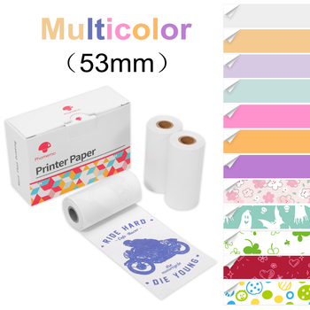 Phomemo multiple choices Thermal Paper for Phomemo M02/M02S Pocker Printer, 50mm Diameter 30mm, 3 Rolls