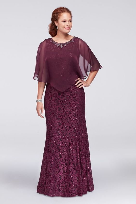 Mermaid Burgundy Lace Mother Of The Bride Dresses With Jacket Wedding Guests Dress Vestido Mae Da Noiva