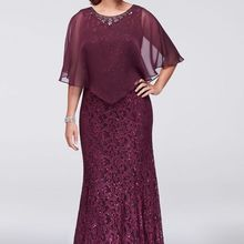 Mermaid Burgundy Lace Mother Of The Bride Dresses