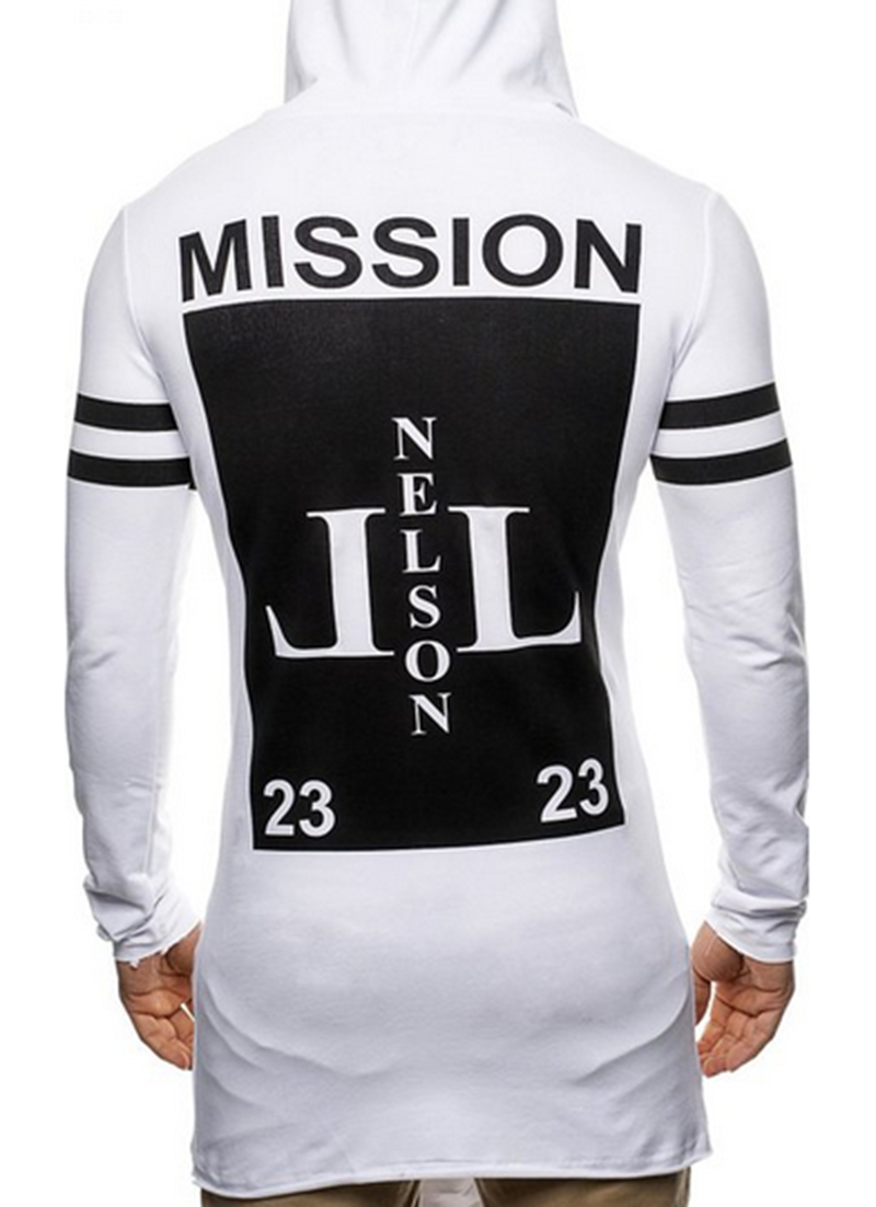2019 autumn fashipn print long hoodie men casual hooded mens hoodies and sweatshirts brand in Hoodies amp Sweatshirts from Men 39 s Clothing