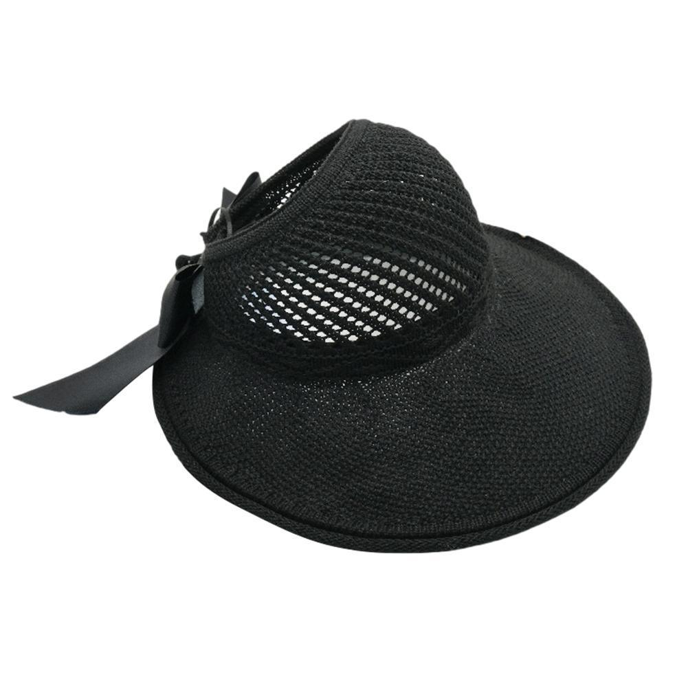 Outdoor Summer Female Sun Hats Big Brim Classic Bowknot Fashion Straw Hat Protected For Women Hat UV Foldable Beach Casual S4K4