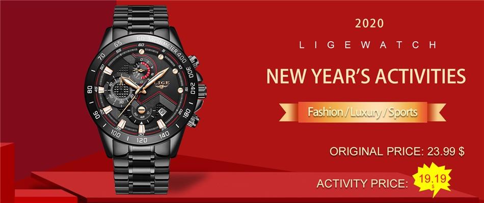 Hd067714486114e4999db1f8a7122c342a 2020 LIGE Fashion Mens Watches Stainless Steel Top Brand Luxury Sport Chronograph Quartz Watch Men Black Watch Relogio Masculino