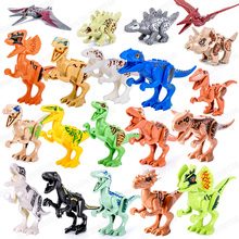 Dinosaur building blocks Jurassic Dinosaurs World Park compatible Legoings small particles children DIY assembled blocks toys blocks toy loz mini kids blocks jurassic world building blocks lot huge dinosaurs jurassic park christmas toys for children