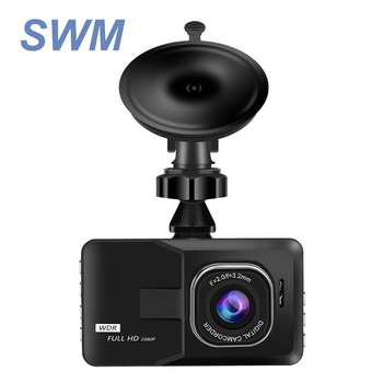 HD 1080P Car DVR Vehicle Camera Video Recorder Dash Night Vision 3.0 inch for car recording dashcam dual back review monitor image