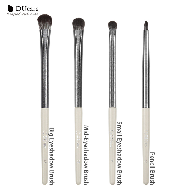 DUcare Eyeshadow Brush 4/6/8PCS Makeup Brush set Blending Eyebrow Brush Nature Hair Synthetic  Hair Eye Shadow Brush Set 4