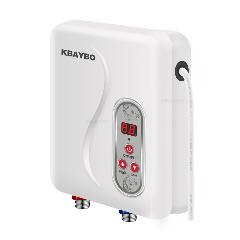 Instantaneous Water Heater 7000W Instant Electric Tankless Water Heater Instant Electric Water Heating Fast 3 Seconds Hot Shower