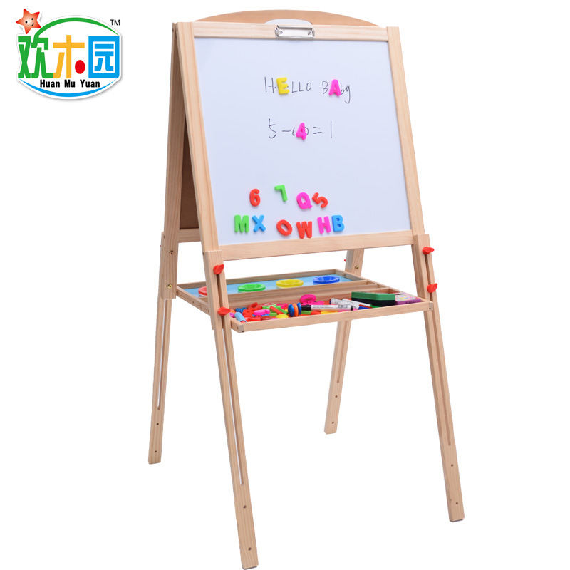 Wooden Children Height Adjustable Da Hua Ban Double-Sided Magnetic Braced Doing Homework Painted CHILDREN'S Early Childhood Educ