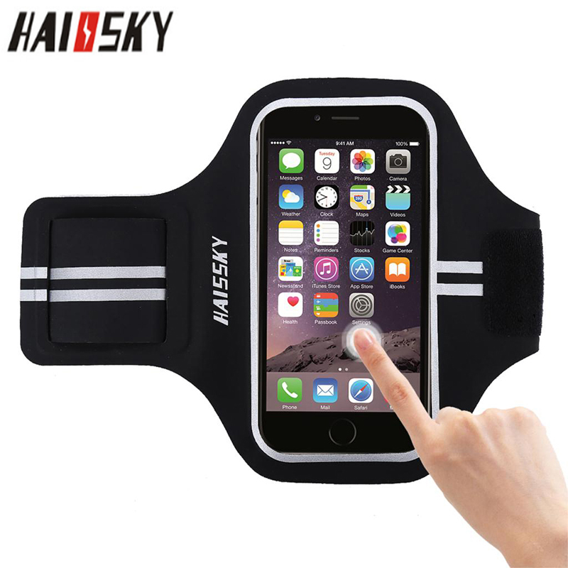 5.0 Inch Outdoor Sport Armbands Phone Case For IPhone 6 6s 7 8 Portable Belt GYM On Hand Running Bag Pouch For Samsung S6 Xiaomi