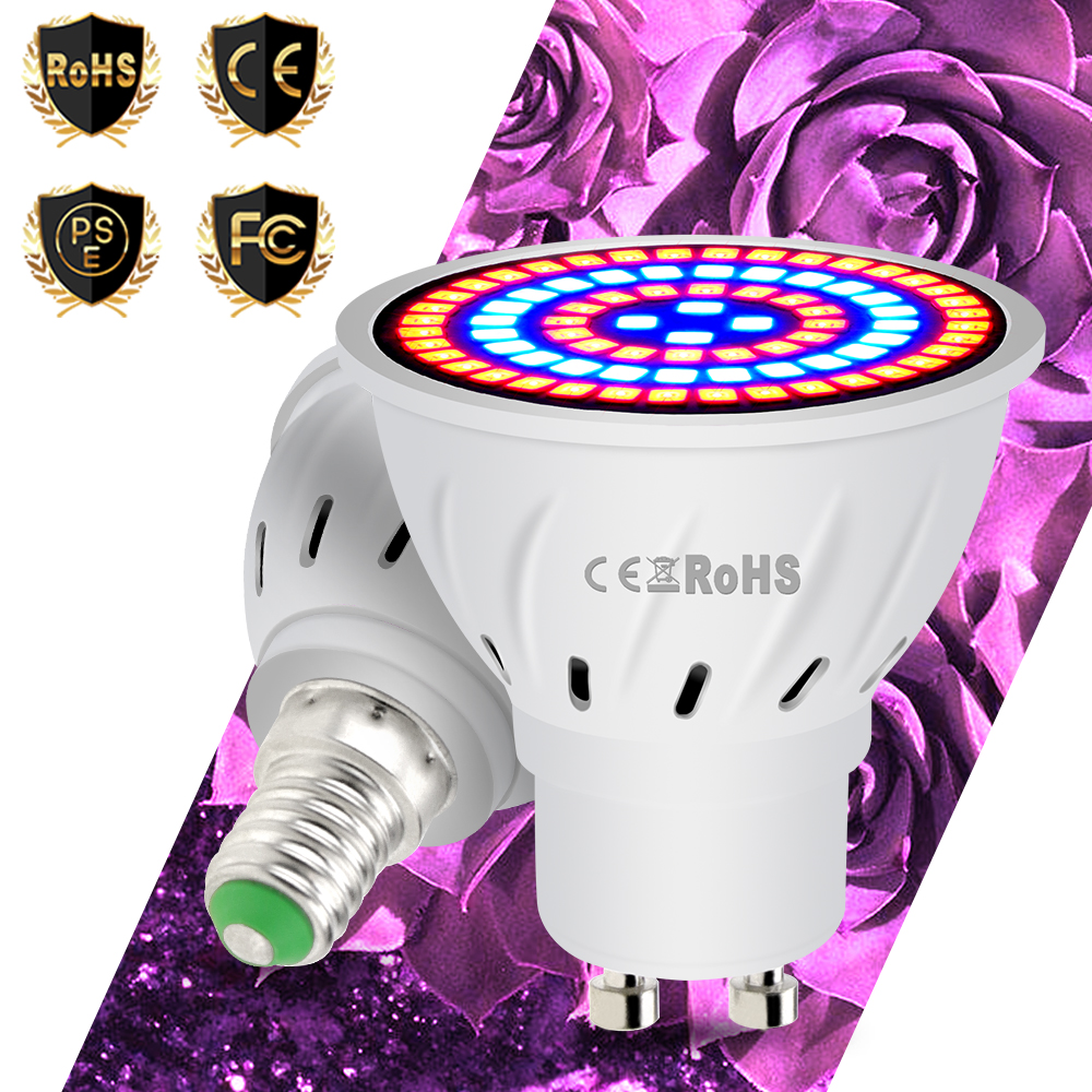 E27 Full Spectrum Plant Lighting Fitolampy E14 Phyto Lamp 220V GU5.3 Bulb GU10 Lights For Plants Flowers Seedling Cultivation