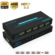 5-Port HDMI Switch 5 In 1 Out SGEYR 4K@60Hz HDR HDMI 2.0 Switcher 5x1 Support Dolby Vision HDR, HDCP 2.2 & 3D with IR Remote