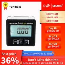 Shahe IP65 Wasserdichte Winkelmesser Mit Zurück licht neigungsmesser Winkel Bevel Box Elektronische Winkelmesser Magnetische Basis winkel gauge