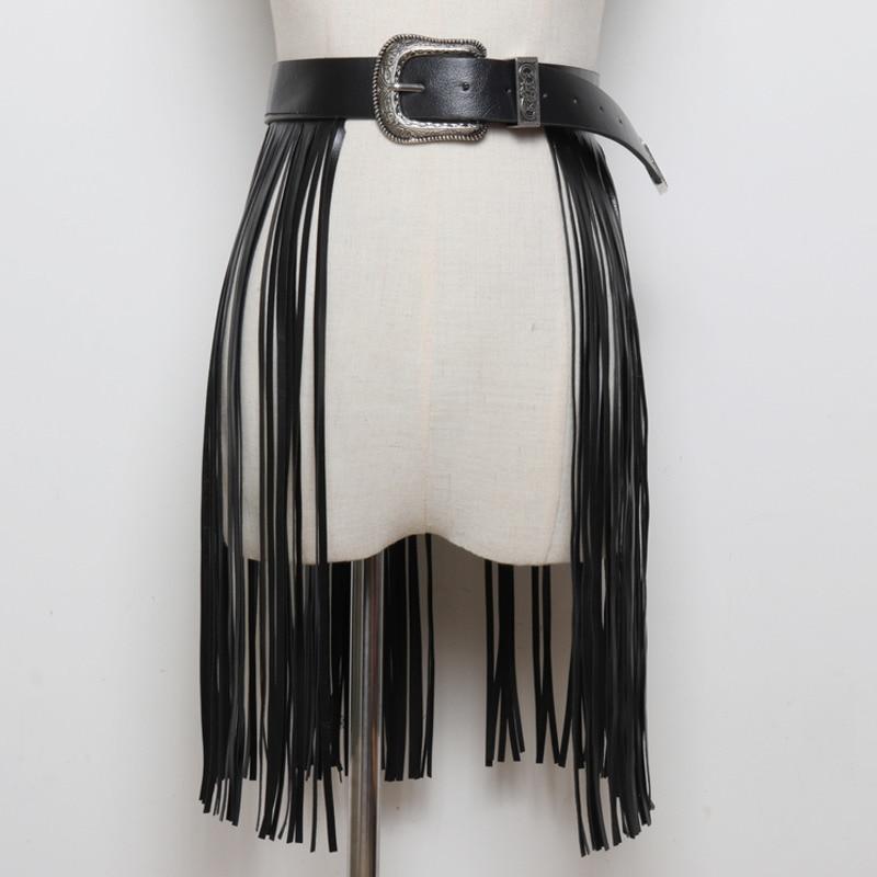 2020 High Fashion Solid Wide Belt Stylish Leather Tassel Belt Corset Belt Waistband New Design Belts For Women Female Tide ZK820