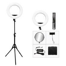 オリジナル yidoblo FS 480II led リングライトキット selfie 化粧ランプ 18 インチの写真撮影照明 48 ワット led ビデオスタジオライト 5500 18k