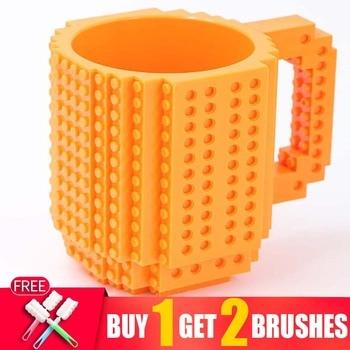 360ML Eco Friendly Cute Lego Compatible Coffee Tea Mug In Car In Mugs Cup For Kids Milk Coffee Travel Water Mug Bottle For Girls 1