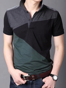 Tee Polo-Shirts Tops Short-Sleeve Asian-Size Janpa-Style Breathable Casual Cotton Summer
