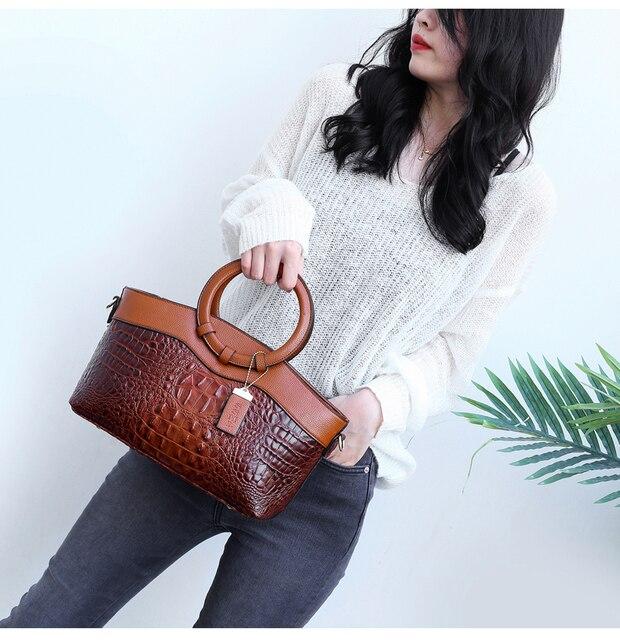 Bolsas de luxo das mulheres sacos de designer crossbody sacos de couro de crocodilo feminino bolsa de ombro das senhoras tote bolsa retro 2