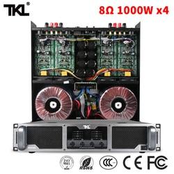 TKL 8ohm 1000W * 4 PX4100 czterokanałowe wzmacniacze mocy stage DJ subwoofer line array profesjonalny wzmacniacz w Nagłośnienie sceniczne od Elektronika użytkowa na