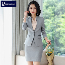 Women s professional suit new fashion temperament body repair interview dress Korean version of work clothes