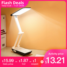 Foldable table lamp for Students 3 light modes 800mAh Rechargeable Battery 21pcs LED Reading Desk Lamp Lamps Table College Dorm