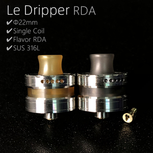 Image 2 - Vape flavor Le Dripper RDA La Atomizer Single Coil Atomizer Ultem Tank 22mm Rebuildable Drops with Squonk pin BF