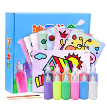 24Pcs/lot Kids DIY Sand Painting Toy for Children Drawing Board Sets BubbleSand Handmade