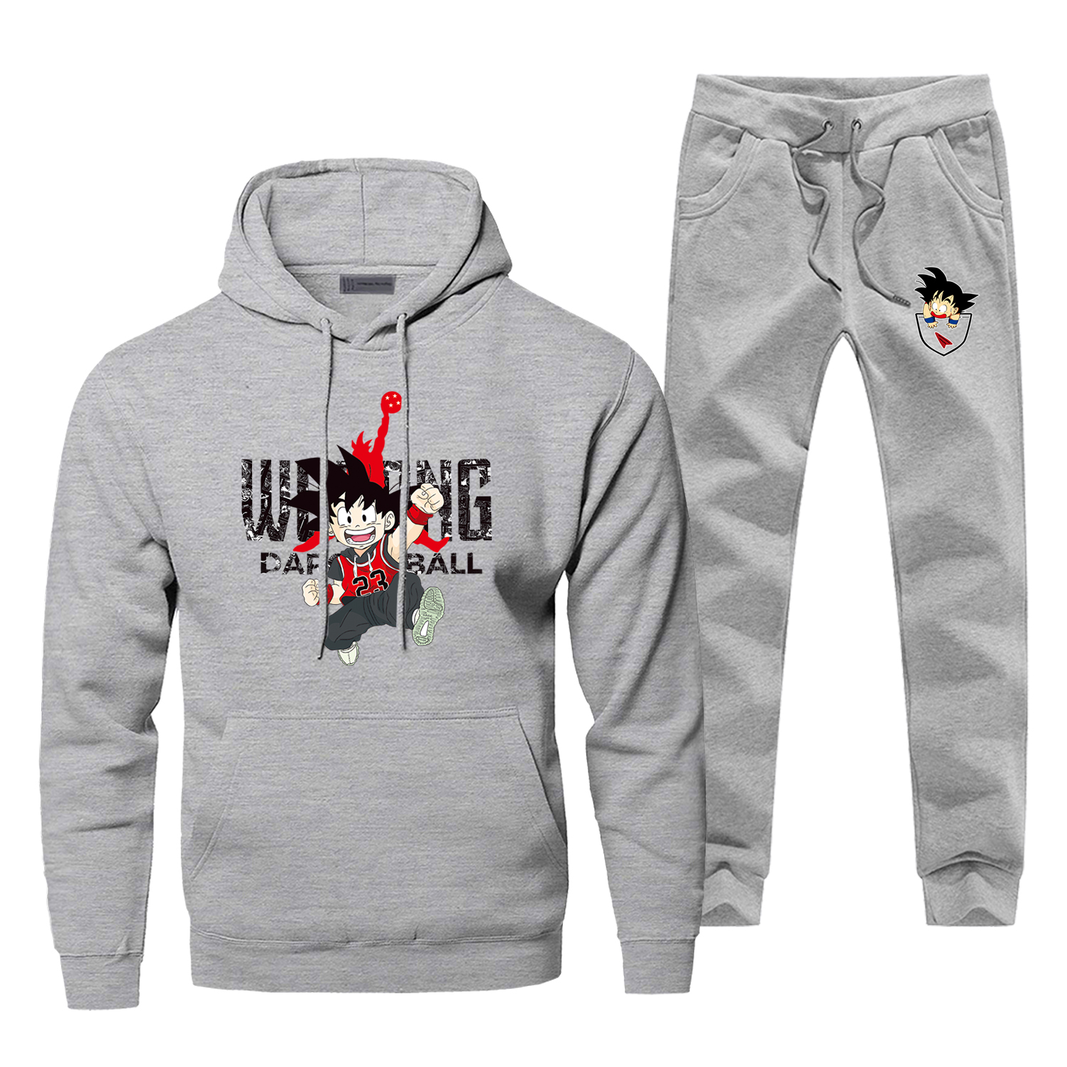 Dargon Ball Hoodie Pants Set Men Sweatshirt Male Hoodies Sweatshirts Japan Anime Mens Sets Two Piece Pant Pullover Harajuku Coat