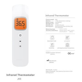 Thermometer Gun Non Contact infrared 2