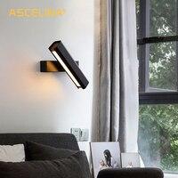 Lâmpada de parede led rotatable luz de parede lâmpada de cabeceira nordic night light para o quarto corredor estudo iluminação suave|Luminárias de parede| |  -