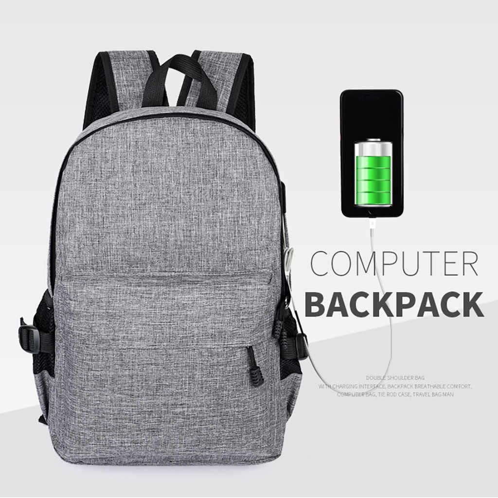 Mannen Grote Capaciteit Zakelijke Laptop Toevallige Rugzak Student Tas Outdoor Reizen Rugzak Met Usb Mochila Bolsa Feminina #35