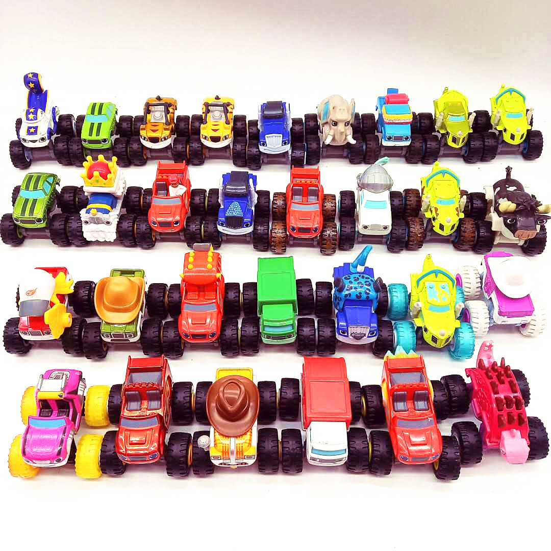 Metal Diecast Machines Car Toys Russian Miracle Crusher Truck Vehicles Figure Blazed Toys For Children Gifts Blazer Kid Toys
