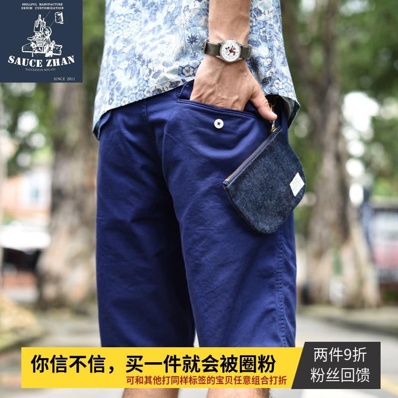 SauceZhan Naval Officer Shorts Mens Military Cargo Pants Men Cotton Casual Short Pants  New Army Shorts VINTAGE ARMY HBT Pants