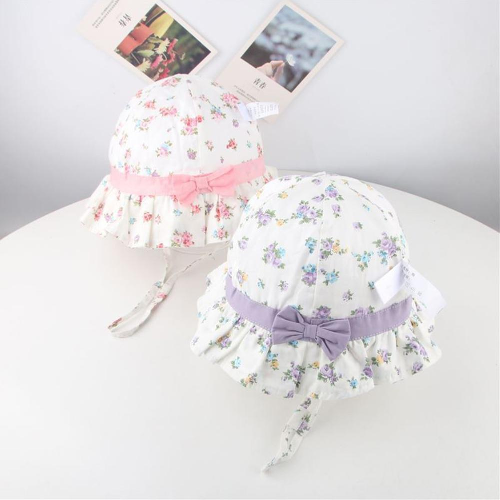 Kids Boy Girl Strawberry Flower Bucket Hat Cotton Children Summer Visors Sun Cap New