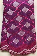 Tissu en dentelle nigériane, tissu en coton de haute qualité, tissu en dentelle séchée africaine, Voile de suisse, pour mariage, suisse HLL4454, nouveau Design 2019