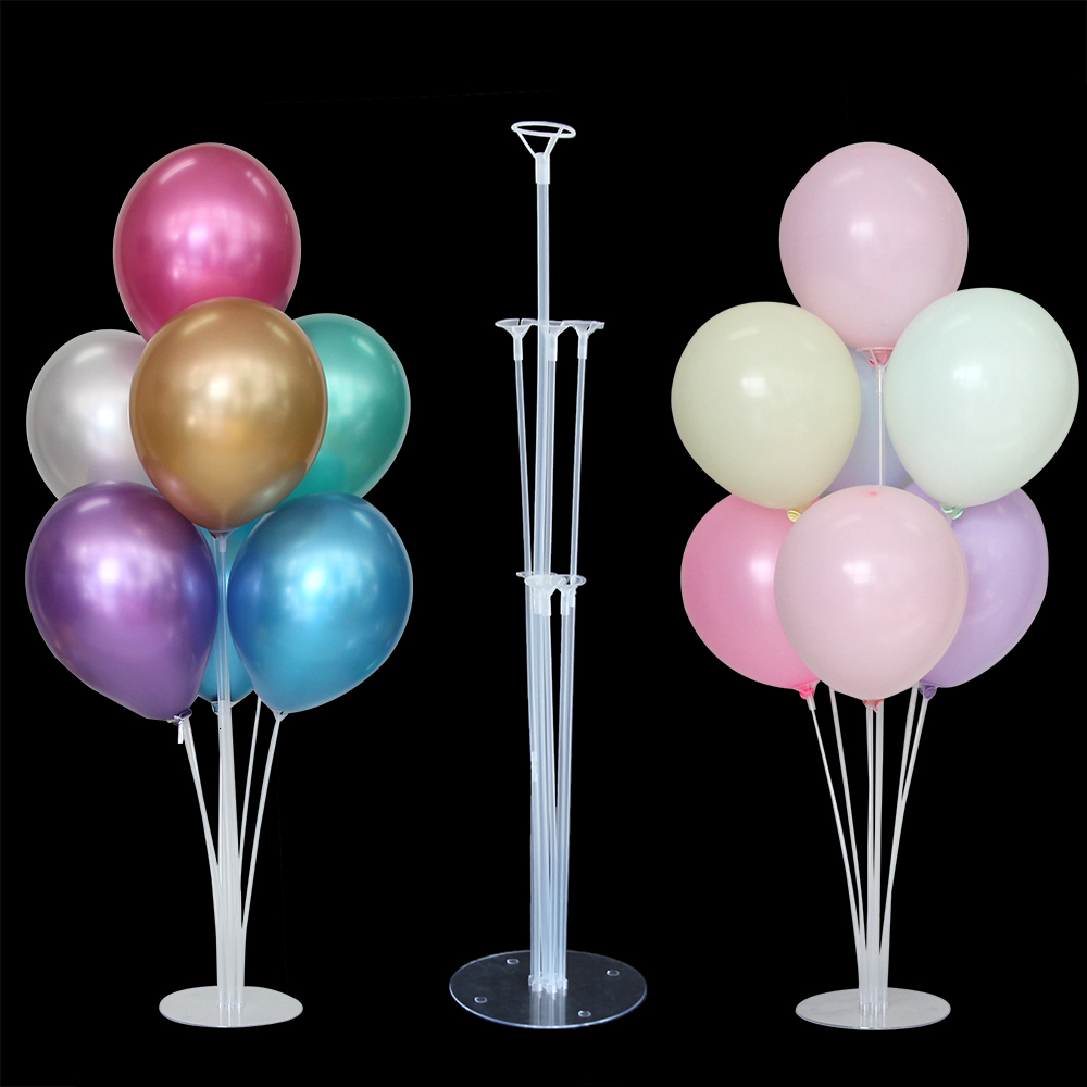 7 Tube Metallic Balloon Stand Adult Kids Plastic Table Floating Balloon <font><b>Support</b></font> Rack for Wedding Birthday Party Decorations image