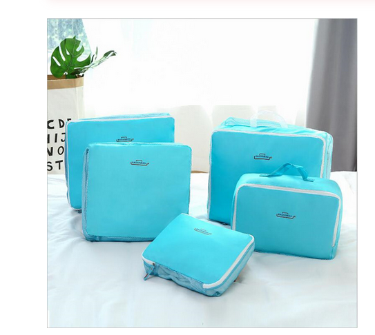 High Quality Oxford Cloth Travel Mesh Bag Luggage Organizer Packing Cube Organiser Travel Bags Travel Bags Packing Cube 5PCS/Set