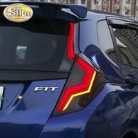 Rear Fog Lamp + Brake Light + Reverse + Dynamic Turn Signal Car LED Tail Light Taillight For Honda JAZZ FIT GK5 2014 2018