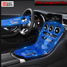 For Mercedes Benz GLC 260 300 2020 Car Interior Center console Transparent TPU Protective film Anti-scratch Accessories Refit