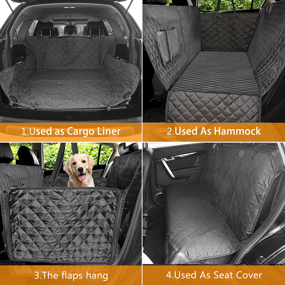 Image 3 - Dog Car Seat Cover Luxury Quilted Car Travel Pet Dog Carrier Car  Bench Seat Cover Waterproof Pet Hammock Mat Cushion ProtectorDog  Carriers